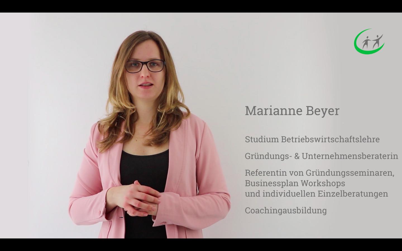 Gründerberatung und Gründerseminar Online - Marianne Beyer