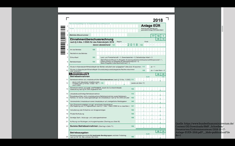 Buchhaltungsseminar - Einnahmenüberschussrechnung