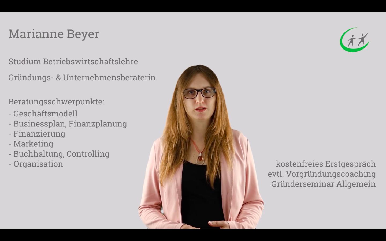 Gründungsberaterin Marianne Beyer - Gründungszuschuss Seminar