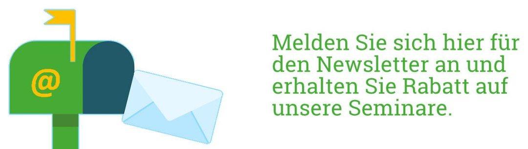 Gruenderseminar online - Newsletter Anmeldung