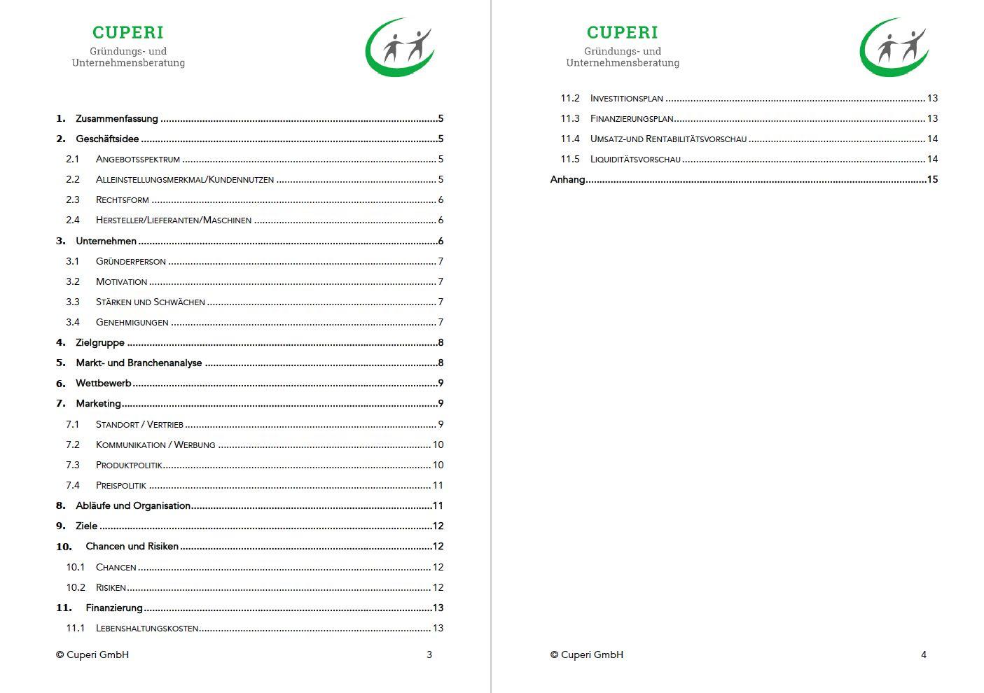 Businessplan Erstellen Kostenlose Word Vorlage Leitfaden 6