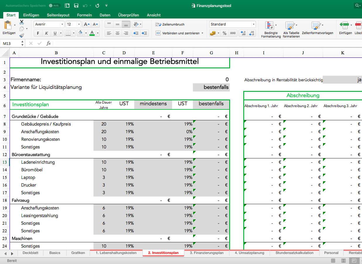 Finanzplan Im Businessplan Definition Aufbau Und Vorlage 5