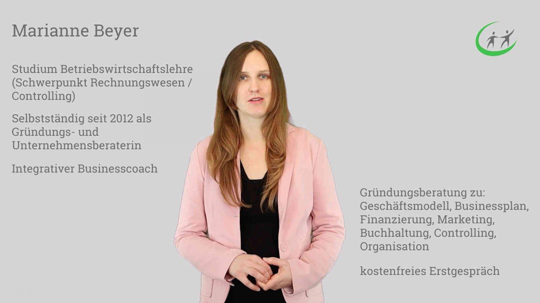 Existenzgründer Seminar Marianne Beyer