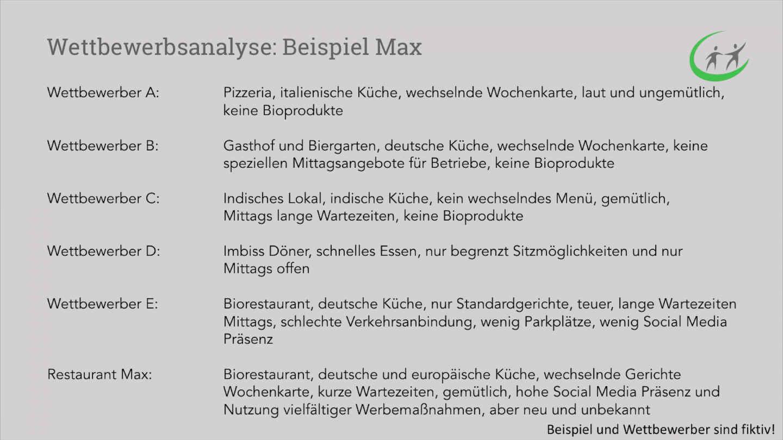 Marketing Grundlagen - Wettbewerbsanalyse